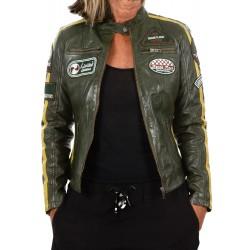 Green Leather Jacket Ulrika GEROME