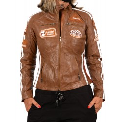 Brown Leather Jacket Ulrika GEROME