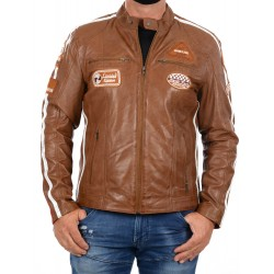 Veste en cuir Marron Ulrika Men GEROME