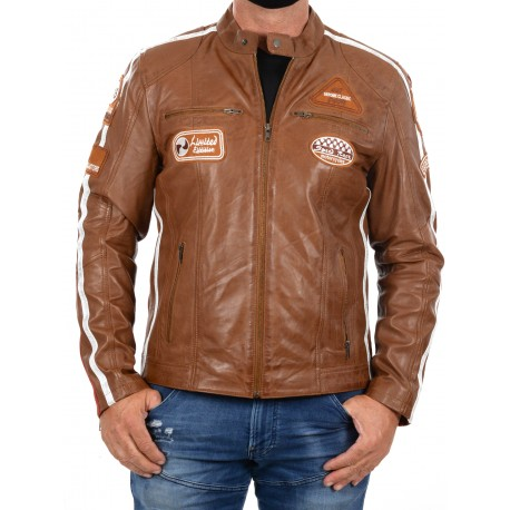 Brown Leather Jacket Ulrika Men GEROME