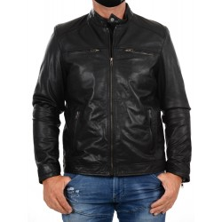 Black Leather Jacket AM-130 GEROME