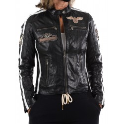 Veste en cuir noir Boston GEROME