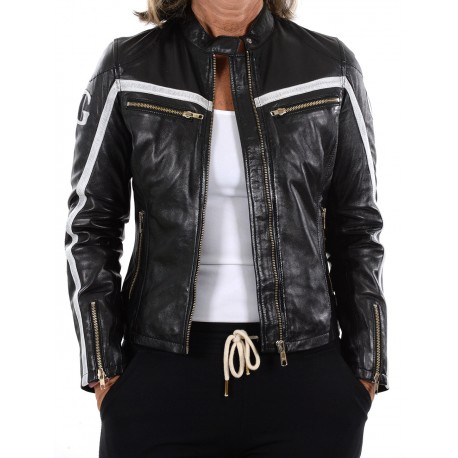 Black Leather Jacket Boston GEROME