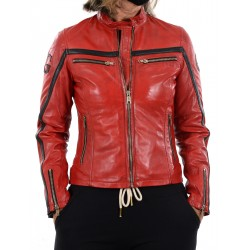 Red Leather Jacket Relli GEROME
