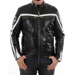 Black Leather Jacket Relli Men GEROME