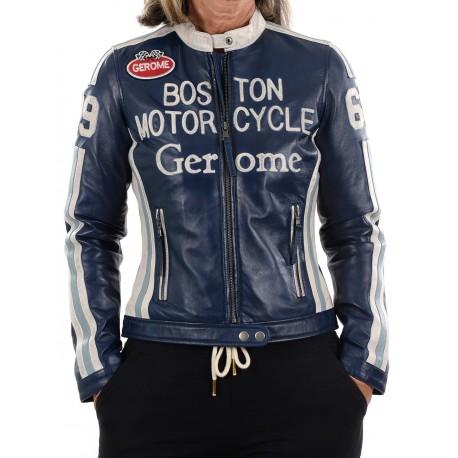 Black Leather Jacket Boston 1966 GEROME