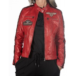 Red Leather Jacket Boston GEROME