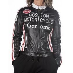 Cazadora de piel negro Boston1966 GEROME