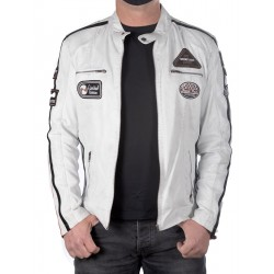 White leather jacket Ulrika men GEROME