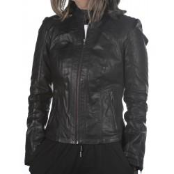 Black leather jacket AM-108 GEROME