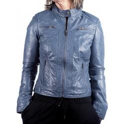 Blue Leather Jacket AM-119Gerome