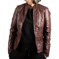 Brown Leather Jacket AM-109 Gerome