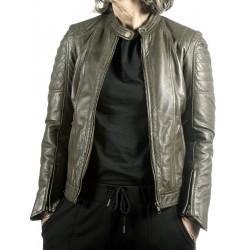 Green Leather Jacket Maya Gerome