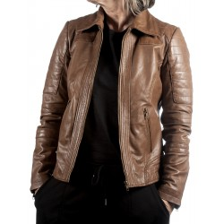 Brown Leather Jacket Hanna Gerome