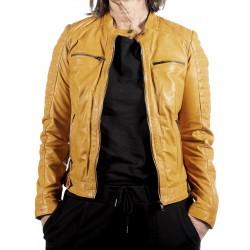 Yellow Leather Jacket Begoña Gerome