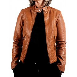 Blue Leather Jacket AM-119Gerome