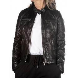 Black Leather Jacket Marta GEROME