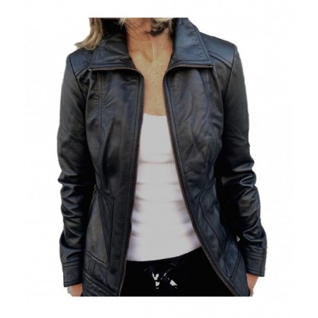 Black leather jacket Karol GEROME
