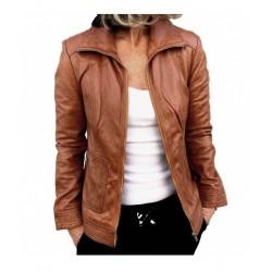 Brown leather jacket Karol GEROME
