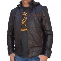 Brown leather jacket Mela-2 Gerome
