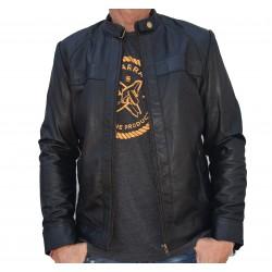 Veste en cuir noire Loyahu Gerome
