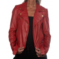 Red Leather Jacket Perfecto Gerome