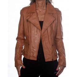 Brown Leather Jacket Rehana GEROME