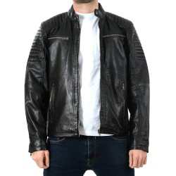Black Leather Jacket Chester GEROME