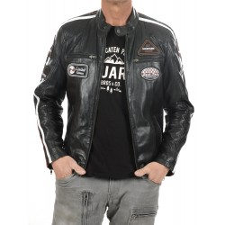 Black Leather Jacket Ulrika Men GEROME