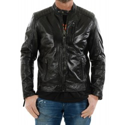 Black leather jacket AM-103 Gerome