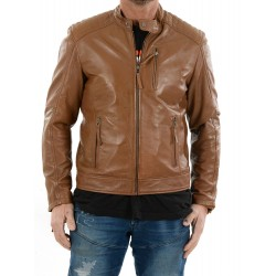 Cognac Leather jacket AM-103 Gerome