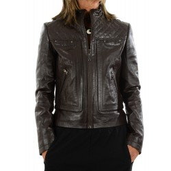 Veste en cuir marron 10134 GEROME