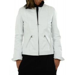 White leather jacket 4030 GEROME