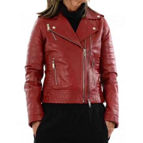 Veste en cuir rouge 10330 GEROME