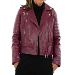 Lilac leather jacket 10330 GEROME